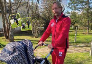 «Шустрый малый»: Евгений Плющенко показал первые шаги 8-месячного сына